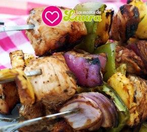 Brochetas de Pollo con Verduras ♥ Pinchos PuertoRiqueños