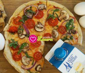 ¡Pizza sin horno! Pizza en lasartén