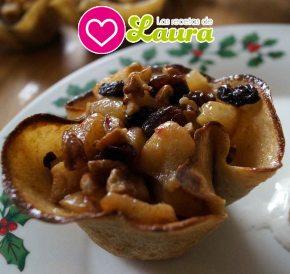 Crepas rellenas de Manzana con Helado deVainilla