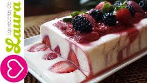 Gelatina de Yogurt con Fresas – Postres paraNavidad
